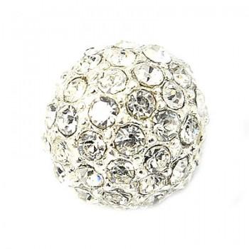 Perle med stene 10 / 1,5 mm - Sølv
