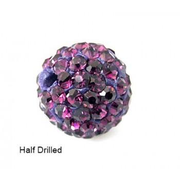 Perle med stene  8 / 1mm - Lilla - ANBORET