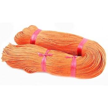 Bomulds knyttesnor 1mm vokset - Orange - 10m