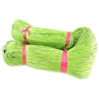 Bomulds knyttesnor 1mm vokset - Grøn - 10m