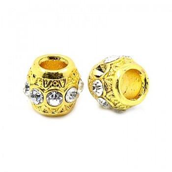 Led med stene guld - 11 / 5 mm