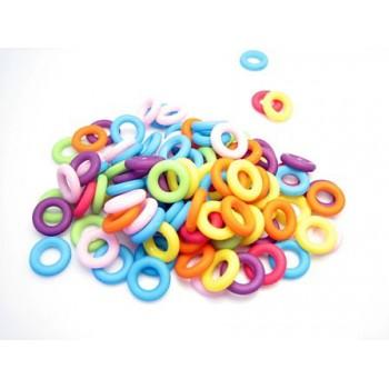 Plast ringe 9 mm / 5 mm - 90 - 100 stk