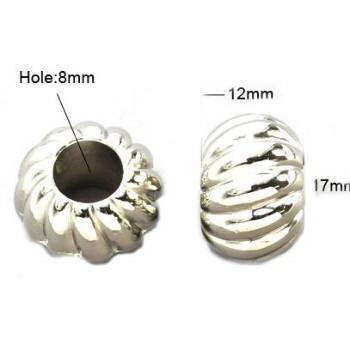 Kæmpe akryl sølv perle 17 / 8 mm