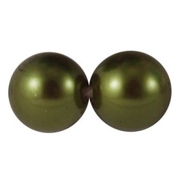 Julekugle 14mm -Grøn - 6 stk