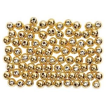 Julekugle guld voks perle 12mm - guld - 8 stk