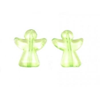 Akryl engle 23 mm - 2 stk Grøn