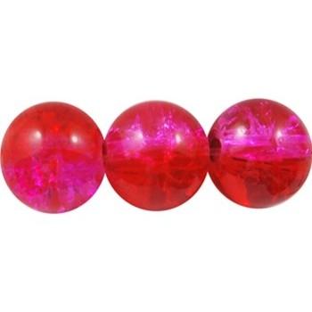 Krakeleret perle 8 mm pink-rosa - 50 stk