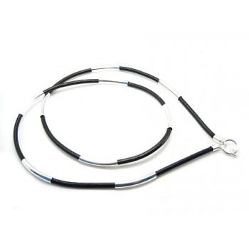 Læder halskæde til vedhæng guld eller sølv - VÆLG 45 - 85 CM