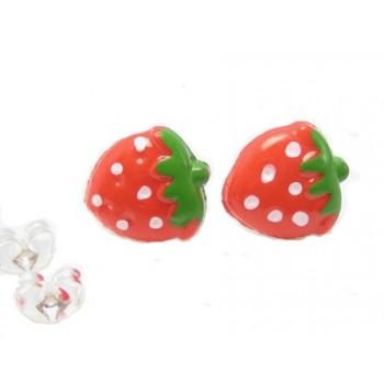 Ørestikker med jordbær 10 mm