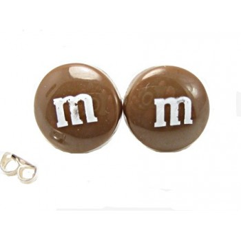 Ørestikker med M & M 13 mm - BRUN