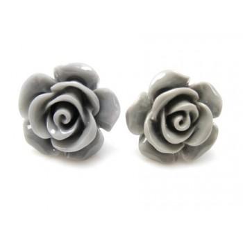 Ørestikker med Grå rose 15 mm