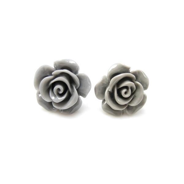 f0843197269 Meget smarte ørestikker med 15 mm grå rose, super fine, 1 par og de er  naturligvis nikkelfrie som alle vores produkter