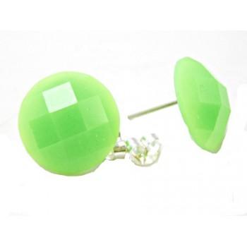 Ørestikker med neon grøn facet 14 mm