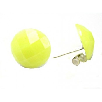 Ørestikker med neon gul facet 14 mm