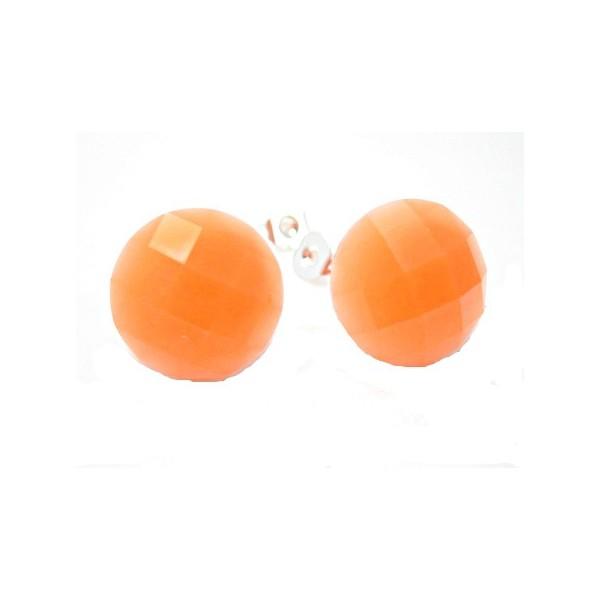 Ørestikker med neon orange facet 14 mm