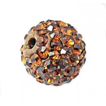 Perle med stene 10 / 1,5 mm - brun