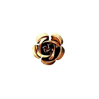 Metal rose COFFE 15/1 mm - 10 STK