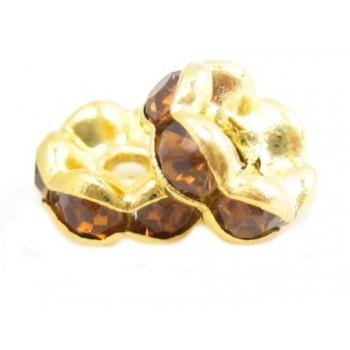 Guld rondel 6mm - mellem...