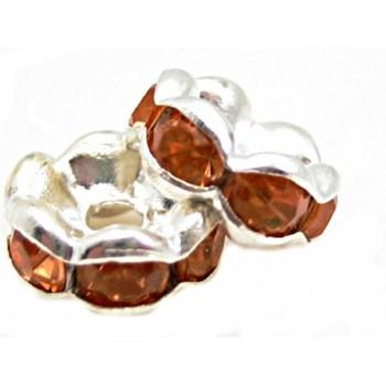 Sølv fs rondel 6 mm -...