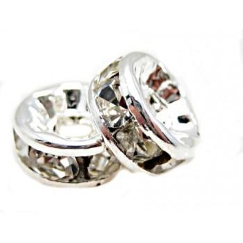 Sølv fs rondel 6 mm - klare...