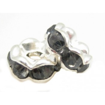 Sølv fs  rondel 6 mm - grå...