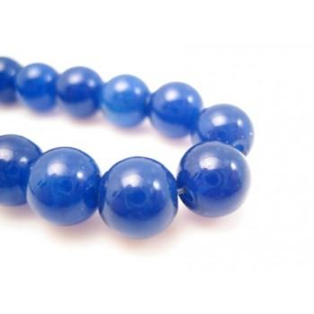 Jade blå 8 mm - 4 stk