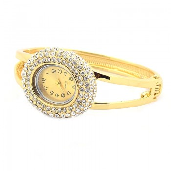 Smuk guld belagt ur med stene