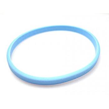 Silikone armbånd lys blå