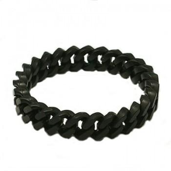 Silikone armbånd sort -...