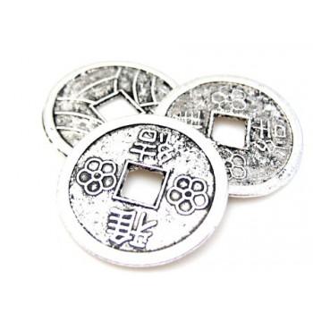 Mønter 19 mm - hul 4 mm - 3...