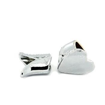Hjertelås med enderør og lukker sølv glat