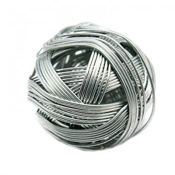 Håndlavet wire perle sølv på 32 mm - FANTASTISK