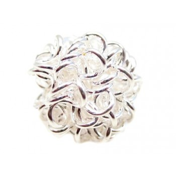 Wire perle sølv 12 mm - 2 stk