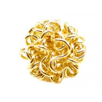 Wire perle guld 12 mm . 2 stk