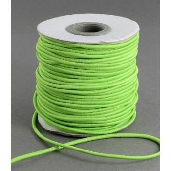 Knytte / smykke elastik LLime  1 mm - 5 m