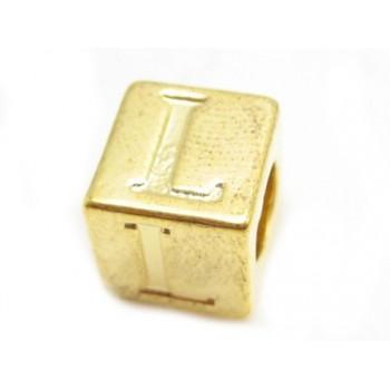 Bogstav  8 x 8 / 4,5 mm - Guld - L