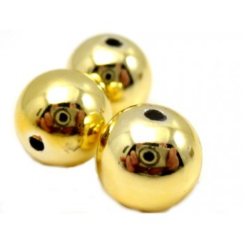 Voks perle 8 mm - guld - 8 stk