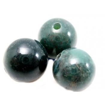 Agat brun / grøn 8 mm - 6 stk