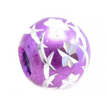 Diamant skåret rund lilla 8...
