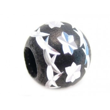 Diamant skåret sort rund 8 / 3 mm - 3 stk
