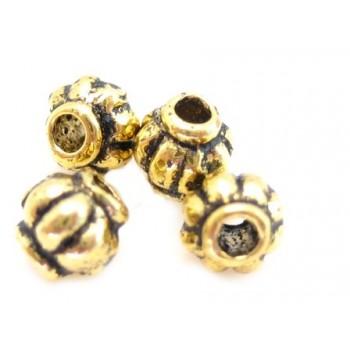 Guld perle 4 / 1 mm - 6 stk