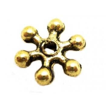 Mellem rondel guld - 7mm - 6 stk