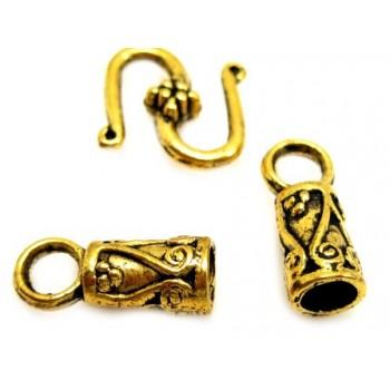 Guld enderør med krog - 3mm...
