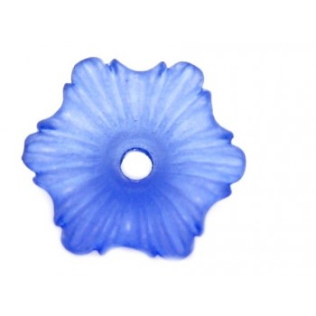 Lilla frostede blomster 11mm - 2 stk
