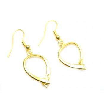 Øreringe til perler guld 20+ mm  - 1 par