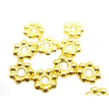 Mellem rondel guld 5mm - 10...