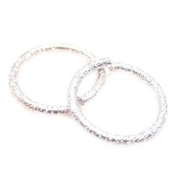 O-ring frostede sølv - 15mm...