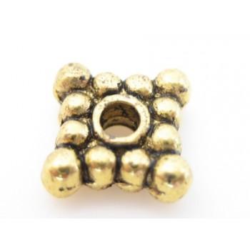 Mellem rondel firkantet guld 6 / 1,5mm - 4 stk