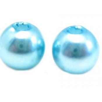 Voks perle 10 mm  turkis  - 10stk