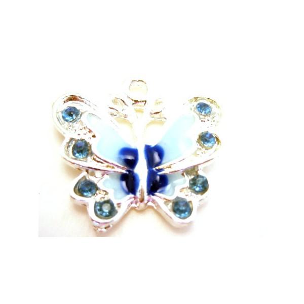 Sommerfugl blå farver 22mm